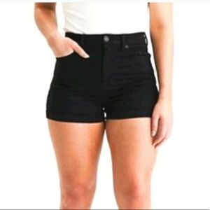 American Eagle Black Shorts Hi-Rise Shortie Size 6